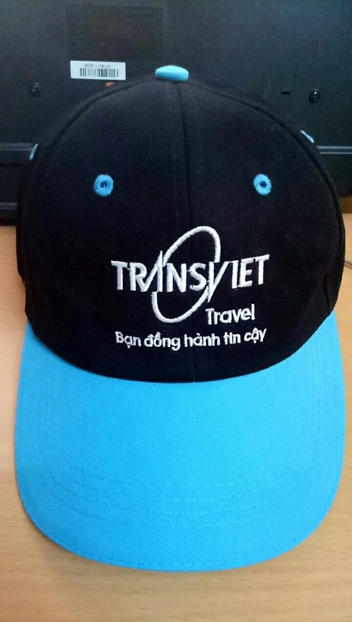 Xưởng may nón Én Nhỏ may nón du lịch cho Vung Chua Travel 1